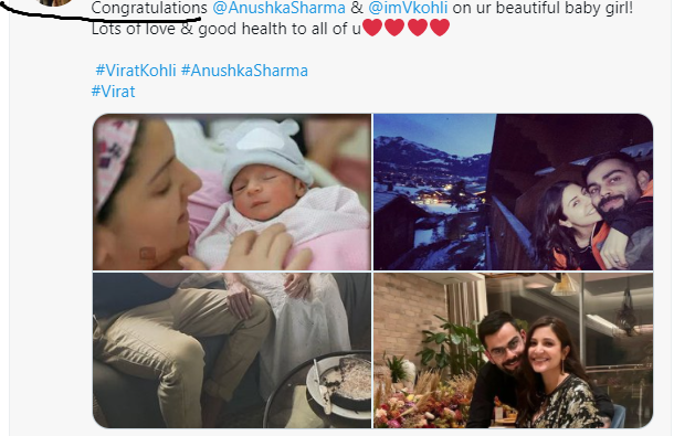 Anushka Sharma Baby Photo, Virat Kohli, Tweet, Daughter and News by anokhikhabre.com